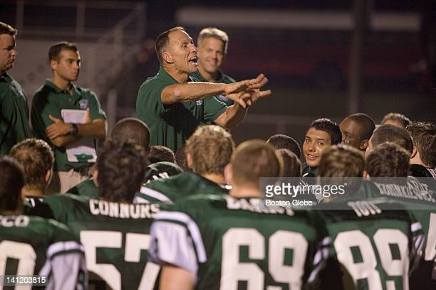 Coach Marcus Borden coaches the East Brunswick High School Bears against Perth Amboy He recently won a court decision allowing him to pray with his...