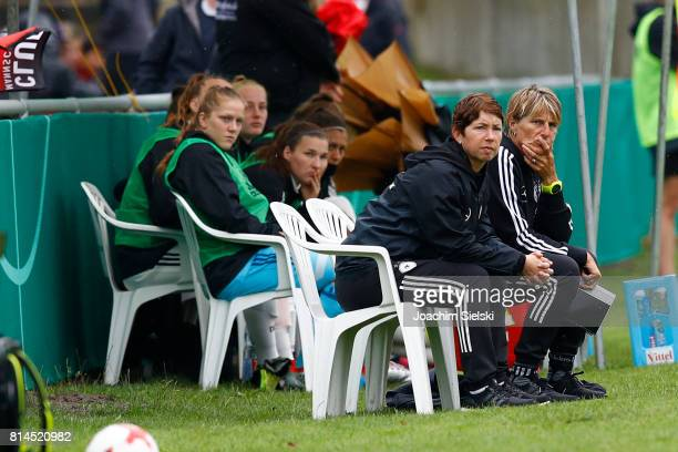 Coach Maren Meinert and 2nd Coach Silke Rottenberg of Germany during the international friendly match between U19 Women's Germany and U19 Women's USA...