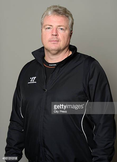 Coach Mario Simioni of HC Bolzano during the portrait shot on september 5, 2014 in Bolzano, Italy.