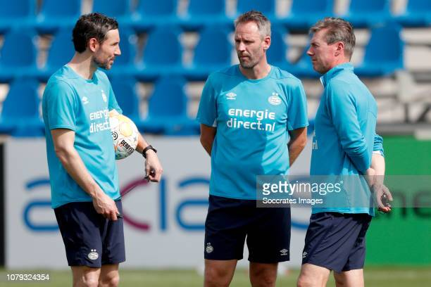 coach Mark van Bommel of PSV Andre Ooijer of PSV during the Training Camp PSV in Qatar on January 8 2019 in Doha Qatar