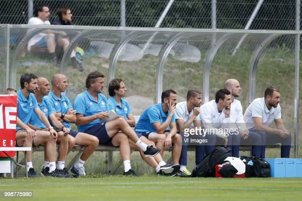 Coach Mark van Bommel of PSV Assistant trainer Jurgen Dirkx of PSV Assistant trainer Reinier Robbemond of PSV Ruud Hesp of PSV Ramon Pascal Lundqvist...
