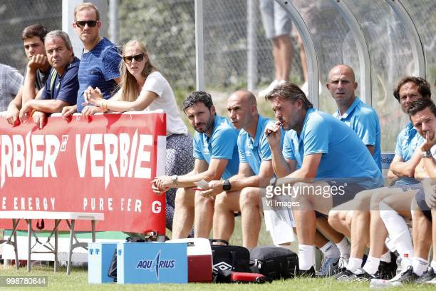 Coach Mark van Bommel of PSV Assistant trainer Jurgen Dirkx of PSV Ruud Hesp of PSV Assistant trainer Reinier Robbemond of PSV during the Friendly...