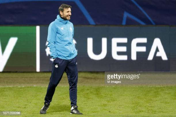 Coach Mark van Bommel of PSV during a training session prior to the UEFA Champions League group B match between Internazionale Milan and PSV...