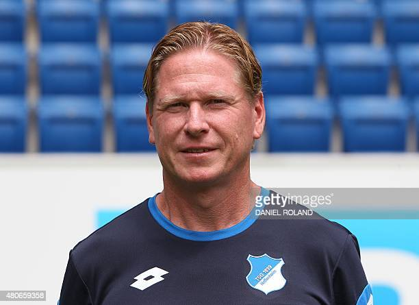 Coach Markus Gisdol of German first division Bundesliga team TSG 1899 Hoffenheim poses for a photo in Sinsheim Germany on July 14 2015 AFP PHOTO /...