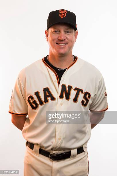 Coach Matt Yourkin poses for a photo during the San Francisco Giants photo day on Tuesday Feb 20 2018 at Scottsdale Stadium in Scottsdale Ariz