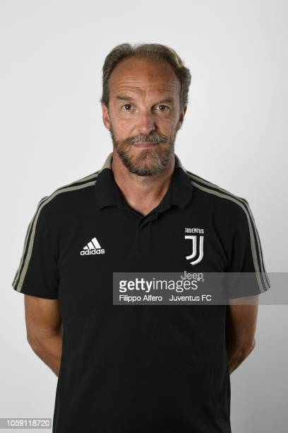 Coach Mauro Zironelli during Juventus U23 Headshots at Juventus Center Vinovo on August 31 2018 in Vinovo Italy