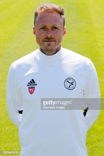 Coach Michele Santoni of Almere City during the Photocall Almere City at the Yanmar Stadium on July 16 2018 in Almere Netherlands