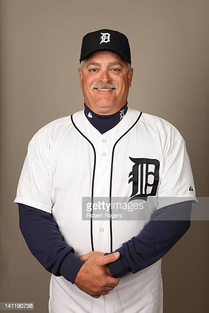 Coach Mike Rojas of the Detroit Tigers poses during Photo Day on Tuesday February 28 2012 at Joker Marchant Stadium in Lakeland Florida