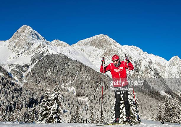 Coach Morten Djupvik of Norway in action during the Biathlon training at the IBU Biathlon World Cup Antholtz on January 18 2016 in Antholtz Italy
