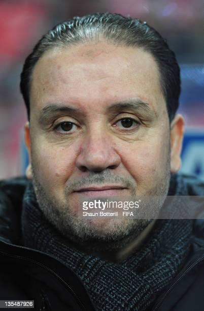 Coach Nabil Maaloul of Esperance Sportive De Tunis before the FIFA Club World Cup Quarter Final match between Esperance Sportive De Tunis and AlSadd...