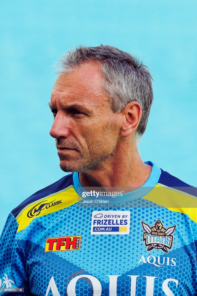 Coach Neil Henry during a Gold Coast Titans NRL training session at CBus Super Stadium on March 1, 2017 in Gold Coast, Australia.