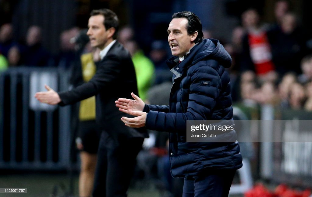 Stade Rennais v Arsenal - UEFA Europa League Round of 16: First Leg : ニュース写真