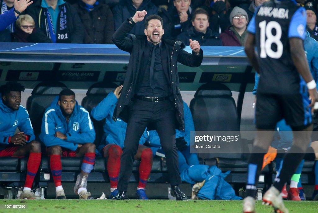 Club Brugge v Club Atletico de Madrid - UEFA Champions League Group A : News Photo