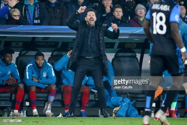 Coach of Atletico Madrid Diego Simeone during the UEFA Champions League Group A match between Club Brugge KV and Club Atletico de Madrid at Jan...