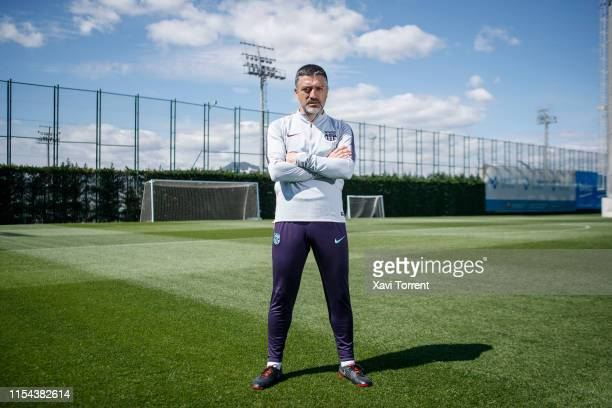 Coach of Barça B Javier Garcia Pimienta poses for a portrait on April 08 2019 in Barcelona Spain