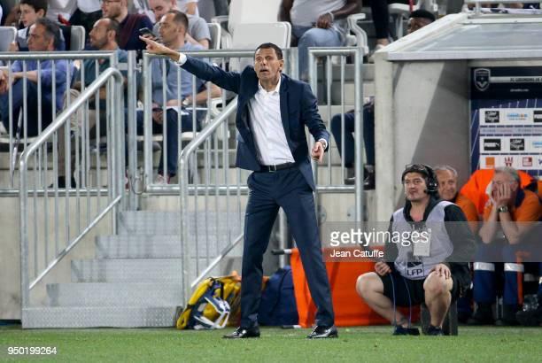 Coach of Bordeaux Gustavo Poyet during the French Ligue 1 match between FC Girondins de Bordeaux and Paris Saint Germain at Stade Matmut Atlantique...