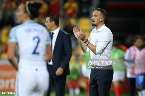Coach of England Mark Sampson during the UEFA Women's Euro 2017 quarter final match between England and France at Stadion De Adelaashorst on July 30...