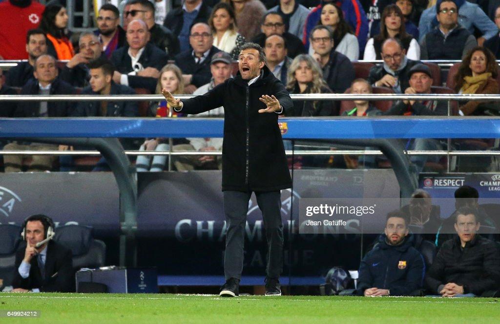 FC Barcelona v Paris Saint-Germain - UEFA Champions League Round of 16: Second Leg : Fotografía de noticias