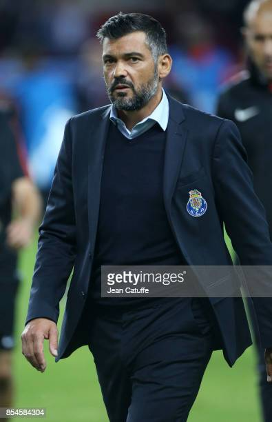 Coach of FC Porto Sergio Conceicao during the UEFA Champions League group G match between AS Monaco and FC Porto at Stade Louis II on September 26...