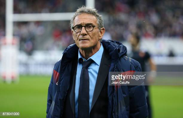 Coach of France Guy Noves before the autumn international rugby match between France and New Zealand at Stade de France on November 11 2017 in Paris...