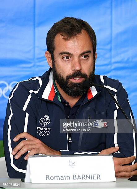 Coach of France Romain Barnier in press conference during Swimming on Olympic Games 2016 in Rio at Olympic Aquatics Stadium on August 13 2016 in Rio...