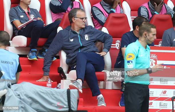 Coach of Lille Marcelo Bielsa during the French Ligue 1 match between Lille OSC and FC Nantes at Stade Pierre Mauroy on August 6 2017 in Lille
