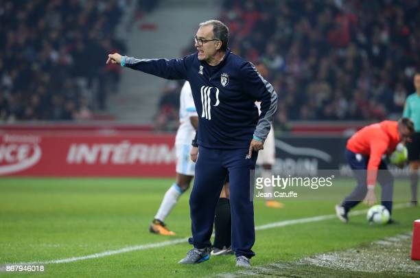 Coach of Lille Marcelo Bielsa during the French Ligue 1 match between Lille OSC and Olympique de Marseille at Stade Pierre Mauroy on October 29 2017...