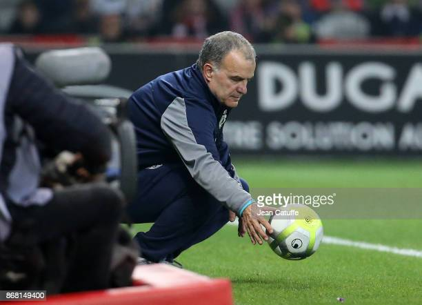 Coach of Lille OSC Marcelo Bielsa during the French Ligue 1 match between Lille OSC and Olympique de Marseille at Stade Pierre Mauroy on October 29...