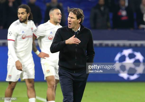 Coach of Lyon Rudi Garcia after the altercation with the supporters following the UEFA Champions League group G match between Olympique Lyonnais and...