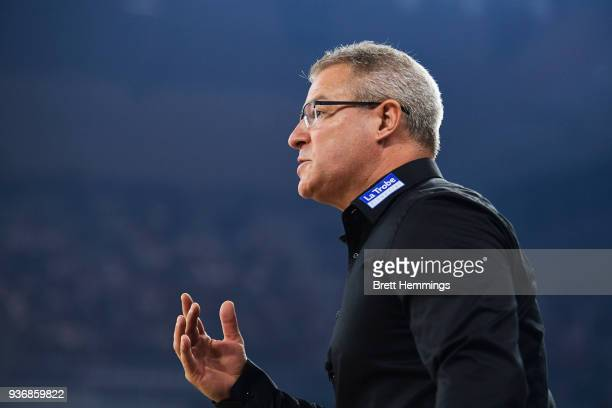 Coach of Melbourne Dean Vickerman reacts during game three of the Grand Final series between Melbourne United and the Adelaide 36ers at Hisense Arena...
