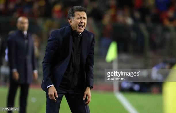 Coach of Mexico Juan Carlos Osorio during the international friendly match between Belgium and Mexico at King Baudouin Stadium on November 10 2017 in...