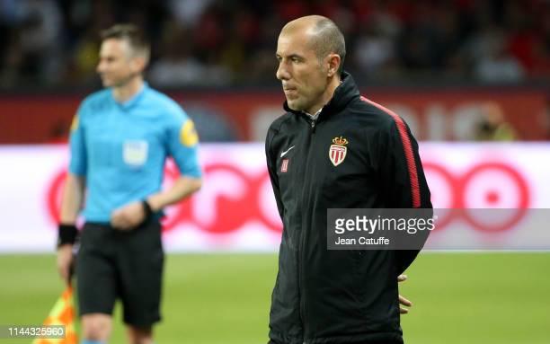 Coach of Monaco Leonardo Jardim during the French Ligue 1 match between Paris Saint-Germain and AS Monaco at Parc des Princes stadium on April 21,...