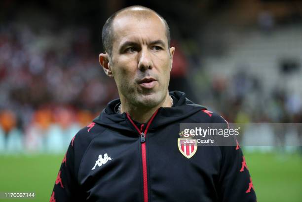Coach of Monaco Leonardo Jardim following the Ligue 1 match between Stade de Reims and AS Monaco at Stade Auguste Delaune on September 21, 2019 in...