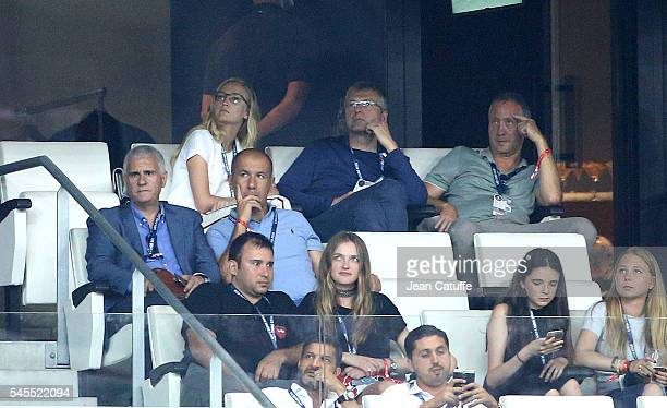 Coach of Monaco Leonardo Jardim President of AS Monaco Dmitry Rybolovlev VicePresident of AS Monaco Vadim Vasilyev attend the UEFA Euro 2016...