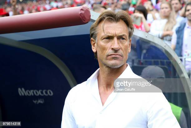 Coach of Morocco Herve Renard during the 2018 FIFA World Cup Russia group B match between Portugal and Morocco at Luzhniki Stadium on June 20 2018 in...