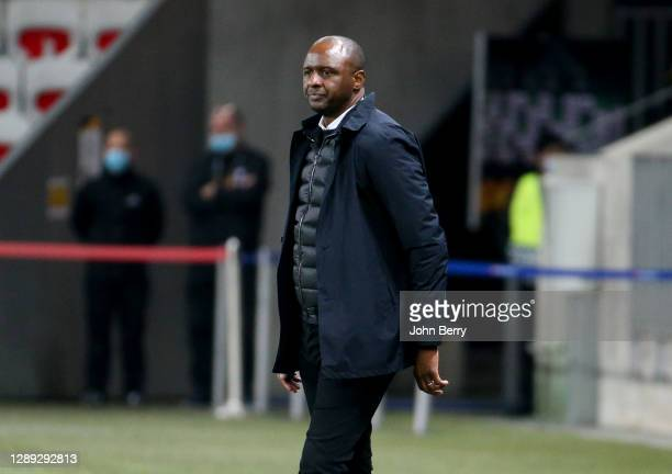 Coach of OGC Nice Patrick Vieira during the UEFA Europa League Group C stage match between OGC Nice and Bayer 04 Leverkusen at Allianz Riviera...