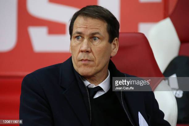 Coach of Olympique Lyonnais Rudi Garcia during the Ligue 1 match between Lille OSC and Olympique Lyonnais at Stade Pierre Mauroy on March 8, 2020 in...