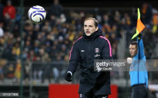 Coach of PSG Thomas Tuchel during the french League Cup at Stade de la Source on December 18 2018 in Orleans France