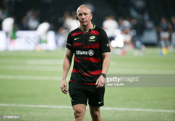 Coach of Saracens Phil Morrow during the Heineken Champions Cup Semi Final match between Racing 92 and Saracens at Paris La Defense Arena on...
