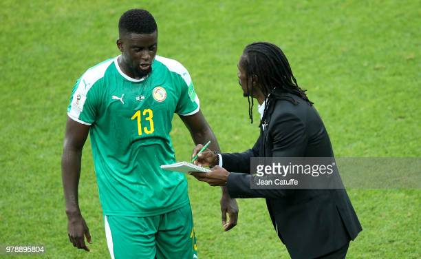 Coach of Senegal Aliou Cisse Alfred N'Diaye of Senegal during the 2018 FIFA World Cup Russia group H match between Poland and Senegal at Spartak...