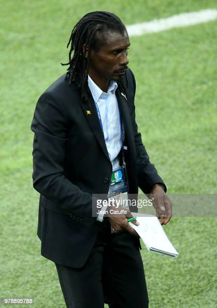 Coach of Senegal Aliou Cisse during the 2018 FIFA World Cup Russia group H match between Poland and Senegal at Spartak Stadium on June 19 2018 in...