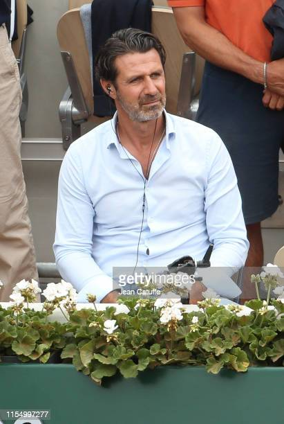 Coach of Serena Williams and pundit for Eurosport Patrick Mouratoglou attends the men's final during day 15 of the 2019 French Open at Roland Garros...