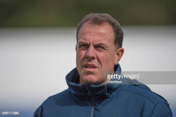 Coach of the Australia Matildas Women's Football Team Alen Stajcic during the Group C 2017 Algarve Cup match between Australia Women and Netherlands...