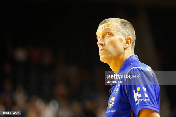 Coach of the Bullets Andrej Lemanis looks on during the round three NBL match between the Illawarra Hawks and the Brisbane Bullets at Wollongong...