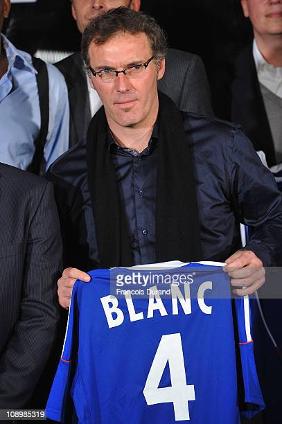 Coach of the French National football team Laurent Blanc attends the 'Best French Sportsman Of The Year 2010' Award at Maison de la Radio on February...