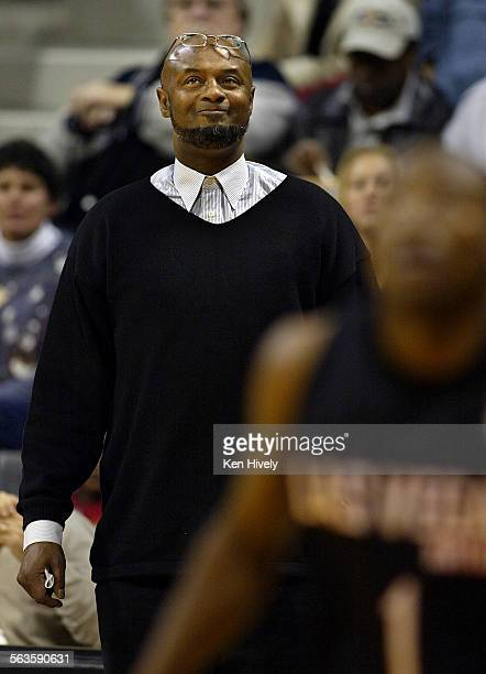 BRYANT coach of the Las Vegas Rattlers during game action against the Long Beach Jam at The Pyramid Tuesday on the campus of Cal State University...
