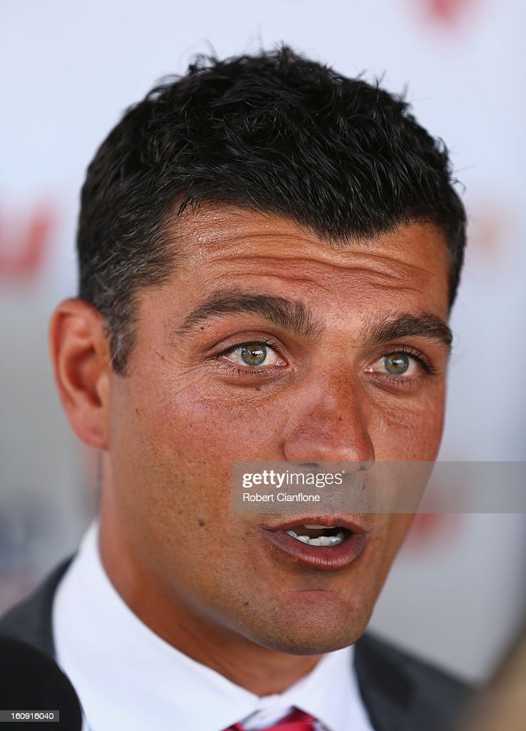 Coach of the Melbourne Heart John Aloisi speaks to the media during an A-League press conference at The Peninsula on February 8, 2013 in Melbourne, Australia.