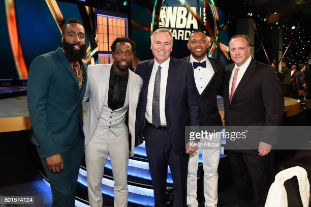 Coach of the Year Mike D'Antoni of the Houston Rockets attends the 2017 NBA Awards Live on TNT on June 26 2017 in New York New York 27111_002