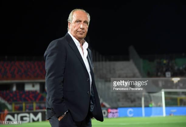 Coach of US Salernitana Gian Piero Ventura during the Serie B match between Cosenza and Salernitana at Stadio San Vito-Marulla on August 31, 2019 in...