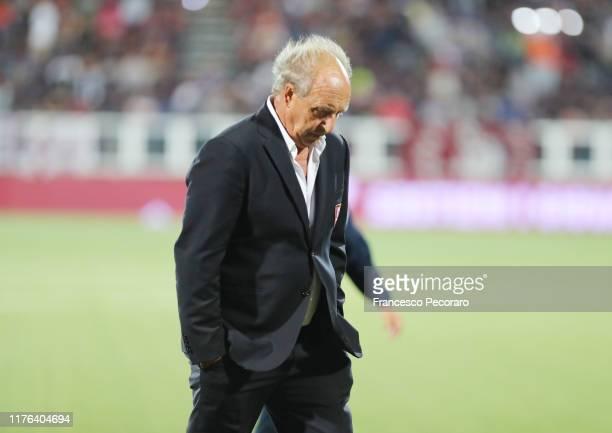 Coach of US Salernitana Gian Piero Ventura during the Serie B match between Trapani Calcio and US Salernitana on September 22, 2019 in Trapani, Italy.